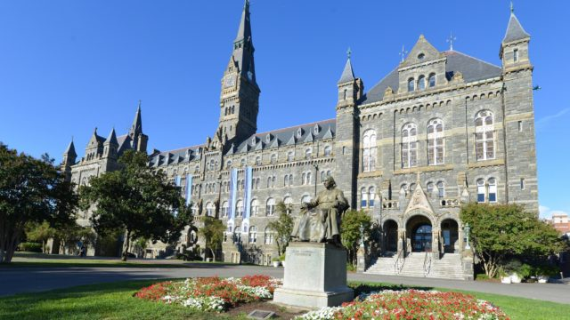 Georgetown University main building in Washington DC - United States
