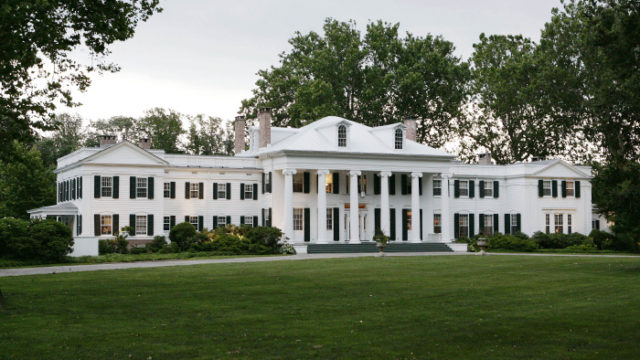 **FILE**The New Jersey governor's mansion, Drumthwacket is shown in Princeton, N.J.,  in this July 2, 2006, file photo. On Monday, April 30, 2007, Gov. Jon S. Corzine left the Camden hospital where he had been treated after being seriously injured in an automobile accident April 12 and went to the governor's mansion, where he will undergo months of rehabilitation.   (AP Photo/Mel Evans, file)